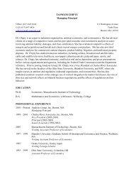 Tasneem Chipty CV - Analysis Group