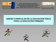 diseño curricular de la educación física para la educación primaria