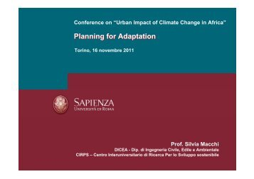 Planning for Adaptation - Adapting to Climate Change in Coastal ...