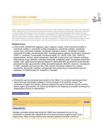 Chondroitin Sulfate Monograph