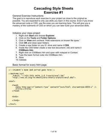 CSS Exercises