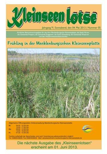 Frühling in der Mecklenburgischen Kleinseenplatte - Amt ...