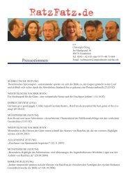 Pressestimmen - Ratzfatz.de