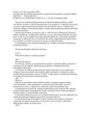 LEGE nr. 477 din 8 noiembrie 2004 privind Codul de conduita a ...
