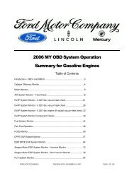2006 MY OBD System Operation Summary for Gasoline Engines