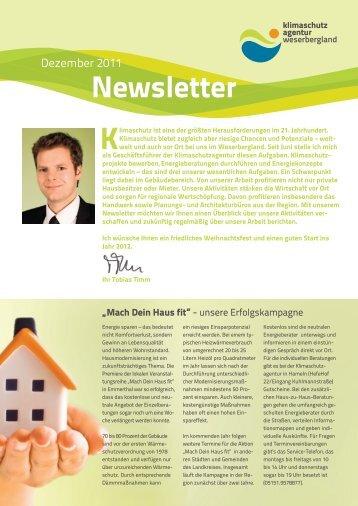 Newsletter 2011-12 (PDF, 2,8 MB) - Klimaschutzagentur ...