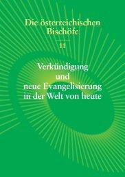 Verkündigung und neue Evangelisierung in der Welt von heute Die ...