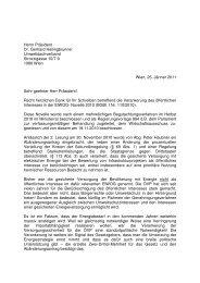 Herrn Präsident Dr. Gerhard Heilingbrunner Umweltdachverband ...