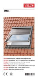 ENGLISH: Instructions for electrically operated awning blind ... - Velux