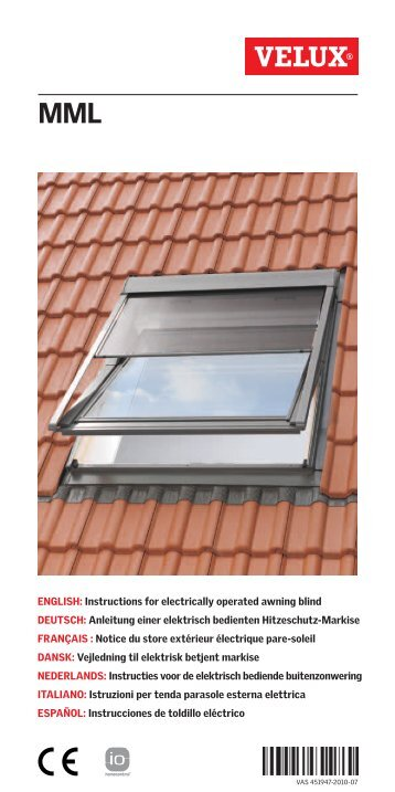 Velux store free with velux store perfect intrieur for Velux skylight remote control manual