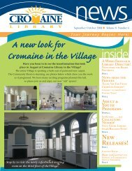 September/October 2008 - Cromaine Library