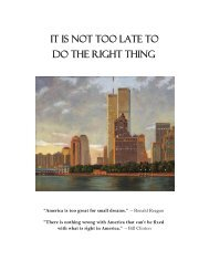 it is not too late to do the right thing - The Twin Towers Alliance