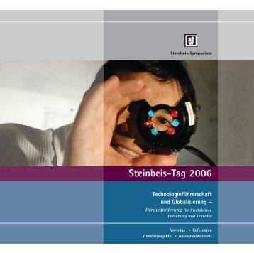 Steinbeis-Tag 2006 Abstracts der Vorträge - STI EMII