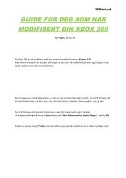guide for deg som har modifisert din xbox 360 - Logg inn på Min Side
