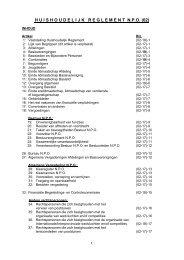 Huishoudelijk Reglement - Npo
