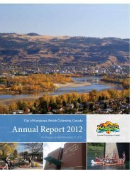 Annual Report 2012 - City of Kamloops