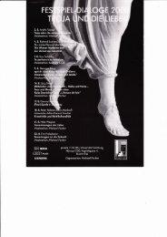Festspiel-Dialoge 2000: Troja und die Liebe