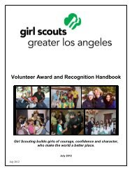Volunteer Award and Recognition Handbook - Girl Scouts of Greater ...
