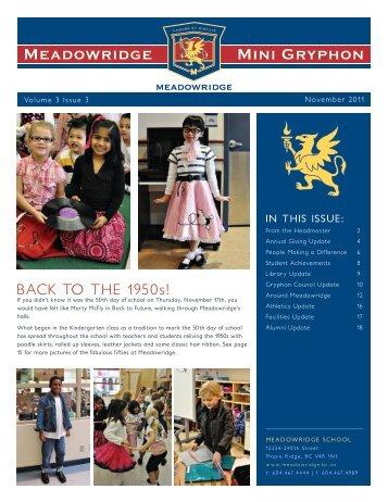 THE 1950s! - Meadowridge School