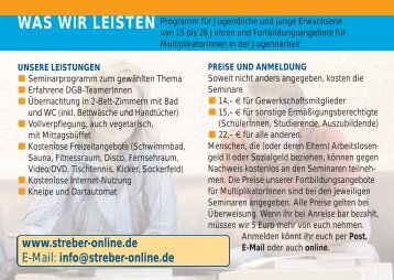 Streber 2007-08 - Streber-Online