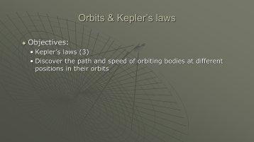 9 Kepler's Laws & Orbits