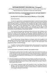 Directors Proposal on Share Repurchase 2009.pdf - Saigon Asset ...