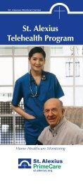 Telehealth brochure - St. Alexius Medical Center