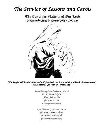 CHRISTMAS EVE 2008.pdf - Peace Lutheran Church