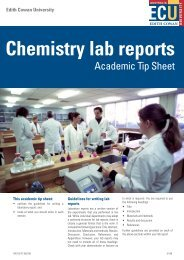 Chemistry lab reports - Edith Cowan University