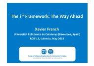 The i* Framework: The Way Ahead - RCIS'11