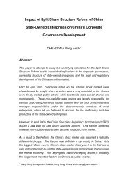Split Share Structure Reform of China State-Owned Enterprises