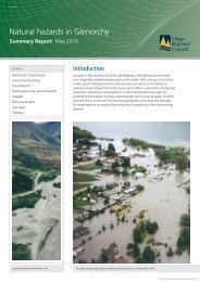Natural hazards in Glenorchy - Otago Regional Council