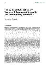Towards A European Citizenship For Third Country Nationals?