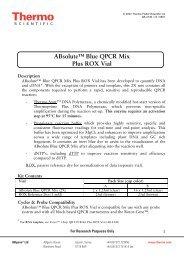 ABsolute™ Blue QPCR Mix Plus ROX Vial - Thermo Scientific