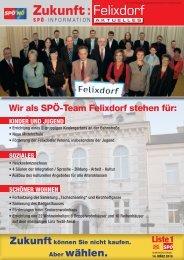 Zukunft :Felixdorf - SPÖ Felixdorf