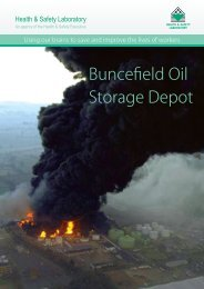Buncefield Oil Storage Depot - Health and Safety Laboratory