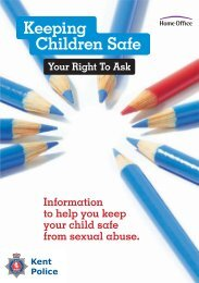 Keeping Children Safe - Your Right to Ask - Kent Police