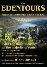 great value, great service and a new programme - Eden Tours
