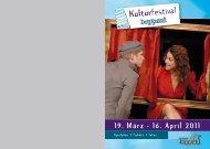 Kulturfestival 19. März - 16. April 2011 - Stadthalle Boppard