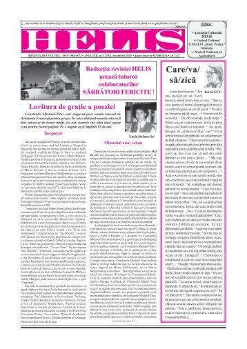 Helis decembrie 2010.pmd - Revista HELIS
