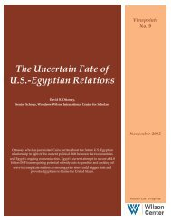 The Uncertain Fate of U.S.-Egyptian Relations - Woodrow Wilson ...