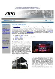 NEWSLETTER # 33 JULY2010 - APG