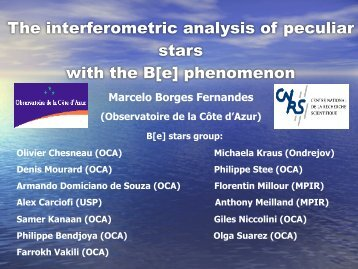 The interferometric analysis of peculiar stars with the B[e ...
