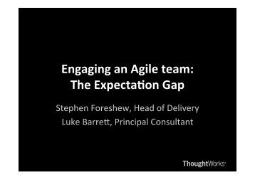 Develop & deploy - ThoughtWorks