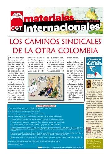 LOS CAMINOS SINDICALES DE LA OTRA COLOMBIA - Rojo y Negro