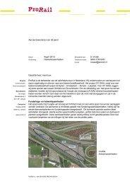 Lees de bewonersbrief van 09 april 2013 - ProRail