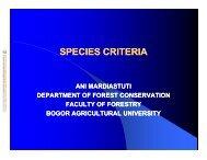 SPECIES CRITERIA - Bogor Agricultural University
