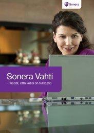Sonera Vahti -esite