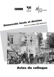 Démocratie locale et décision - Délégation interministérielle à la ville