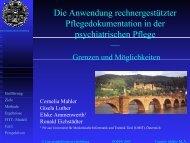 Die Anwendung rechnergestützter Pflegedokumentation in der ...